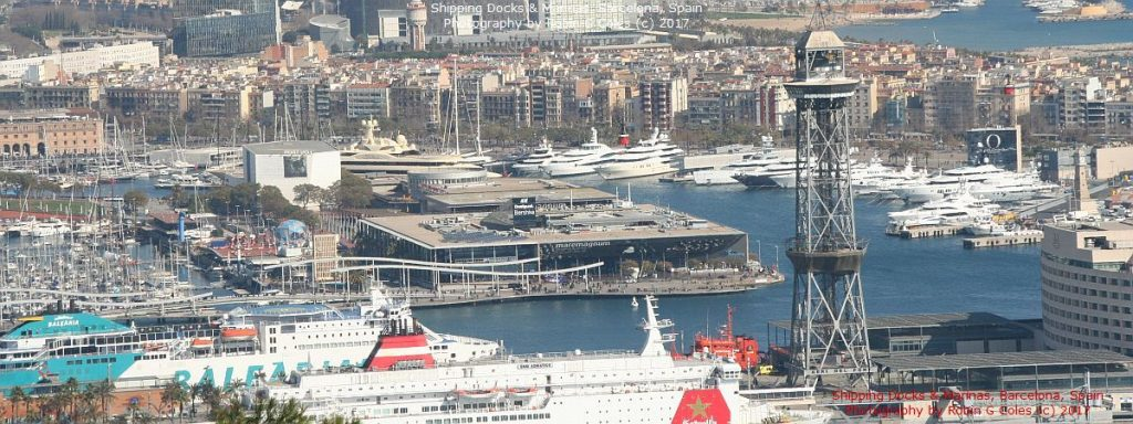 Marinas, shipping docks, Barcelona, Spain
